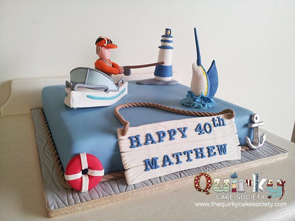 Birthday Cake Images With Name Deep : Deep Sea Fishing Cake - The Quirky Cake Society