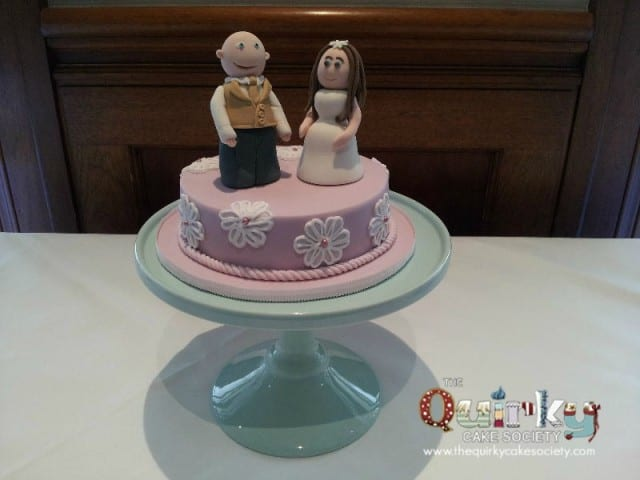 Caricature Miniature Wedding Cake