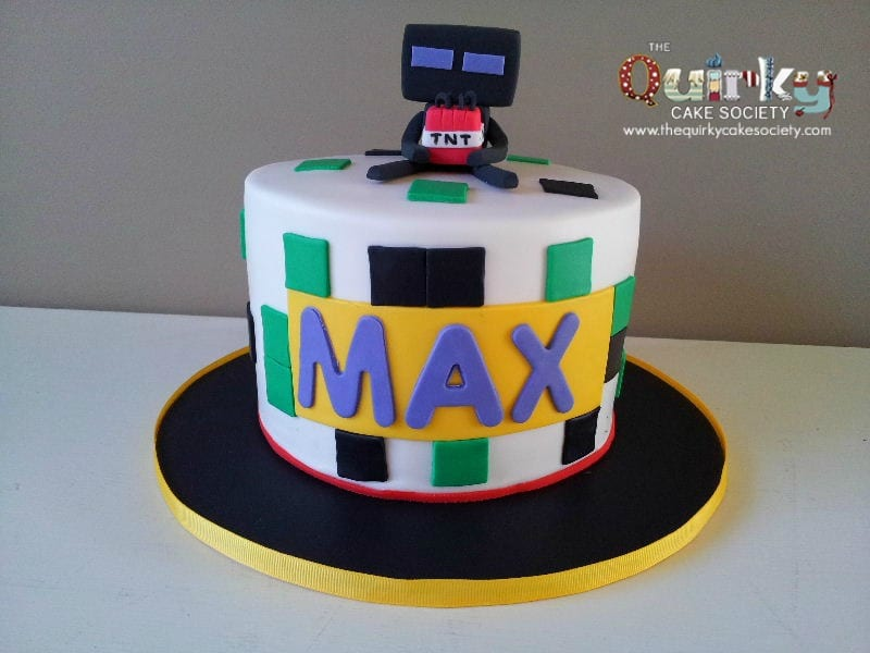 Enderman Minecraft Cake The Quirky Cake Society