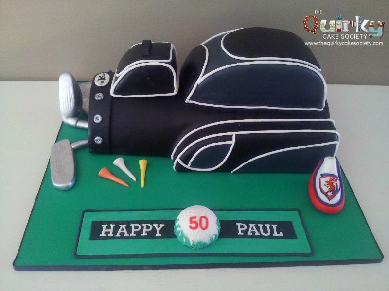 Golf Bag Cake Images : 3D Golf Bag Cake - The Quirky Cake Society
