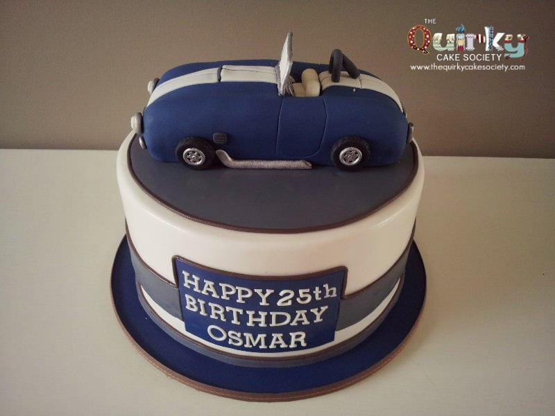 Shelby Cobra Car Cake - The Quirky Cake Society