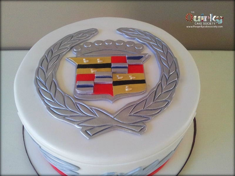Cadillac Emblem Cake The Quirky Cake Society
