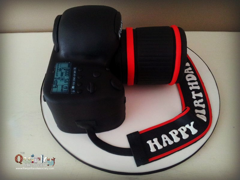 Canon Camera Cake The Quirky Cake Society