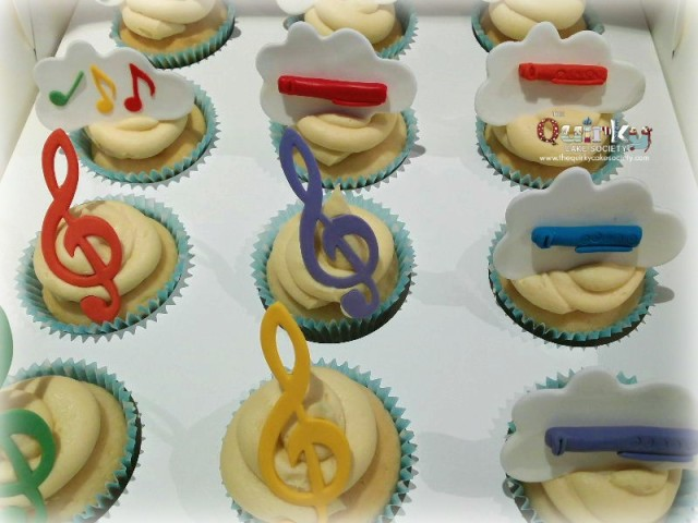 Musical Notes Cupcakes