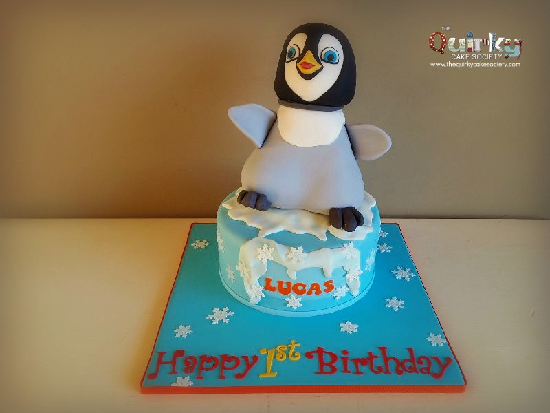 Happy Feet Birthday Cake Toppers