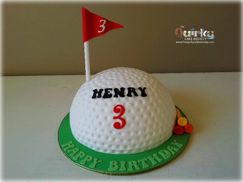 Cake Arch Balloon Design : Golf Ball Cake - The Quirky Cake Society