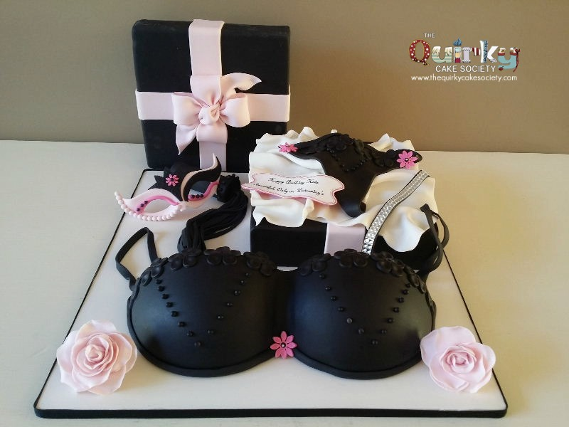 Lingerie gift box cake the quirky cake society negle