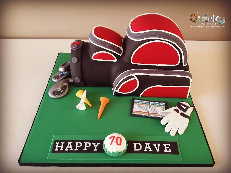70th Golf Bag Cake - The Quirky Cake Society
