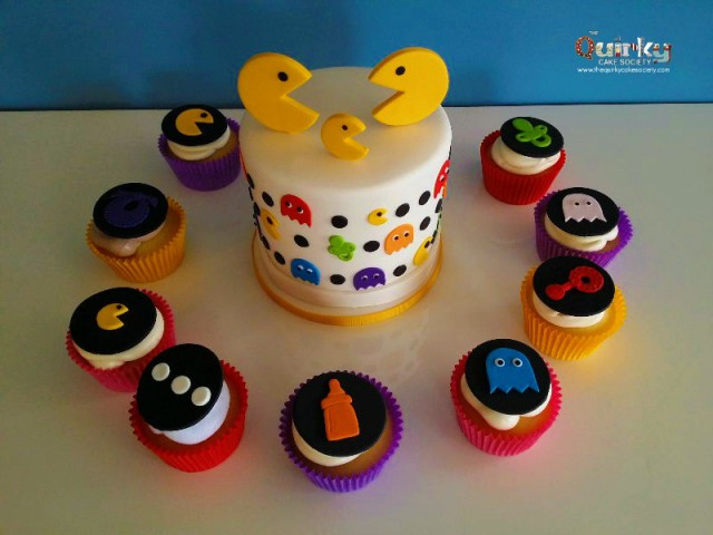Pac Man Baby Shower Cake