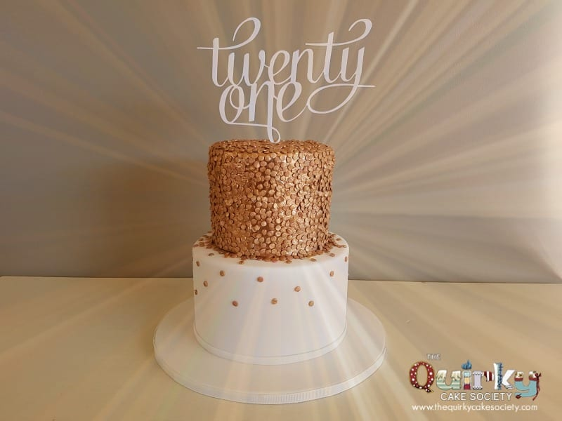Birthday Cake Images Gold : Rose Gold cake - The Quirky Cake Society