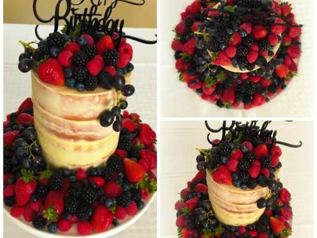 Berry Beautiful Naked cake