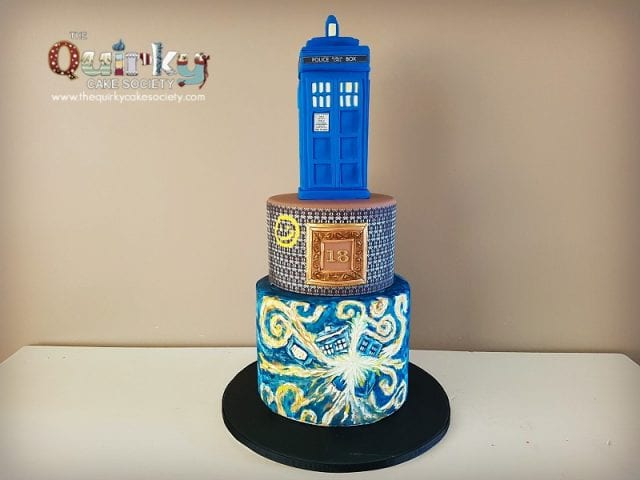 Dr Who and Sherlock Holmes Cake
