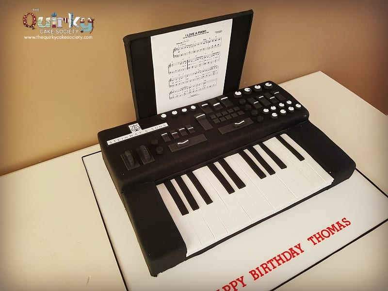 Electric Keyboard Cake The Quirky Cake Society