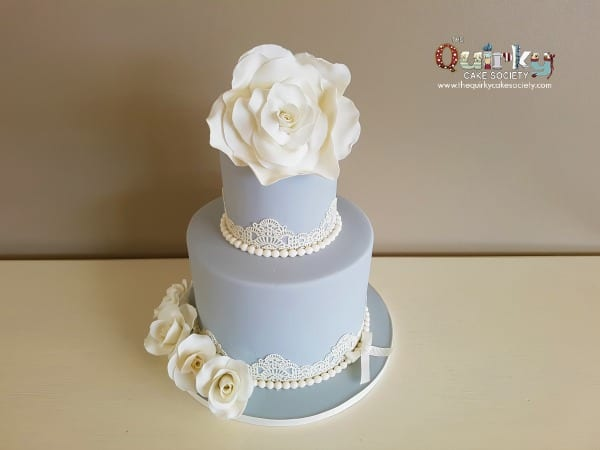 Vintage Grey with Lace Cake (the 3rd)