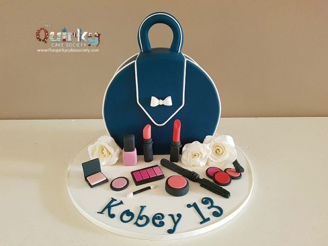 Navy Blue Handbag Cake