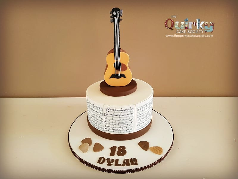 Electric Guitar Wedding Cake Topper