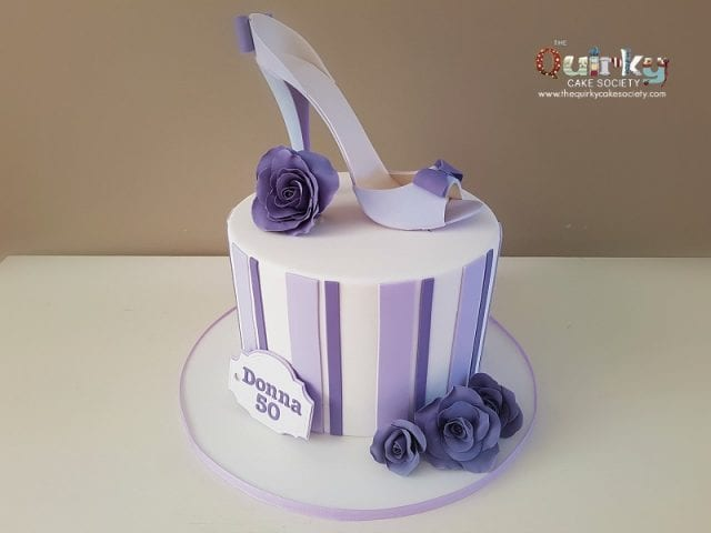 Mauve and Purple Cake