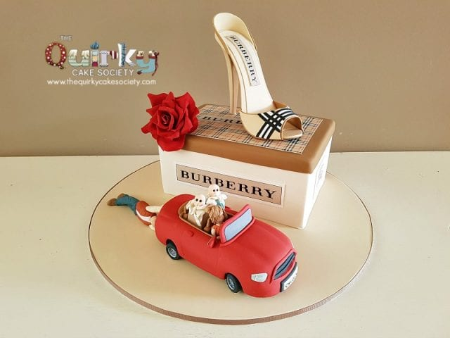 Burberry Shoe Cake