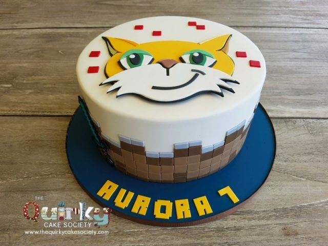 Mr Stampy Cat Minecraft cake
