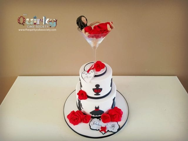 Lady in Red Cake