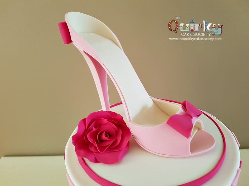 pretty in pink shoe cake the cake society