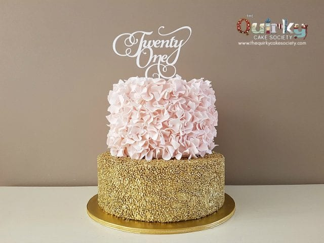 Ruffle and Sequin Cake