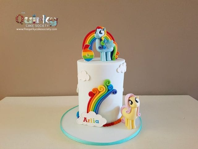 Rainbow Dash and Flutterfly My little Pony cake