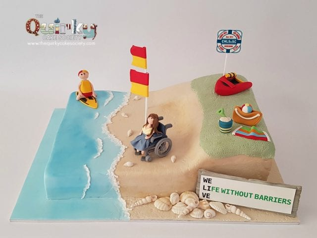 Lifesaving Beach Cake