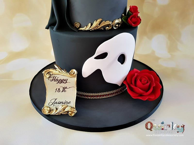 Phantom Of The Opera Cake The Quirky Cake Society
