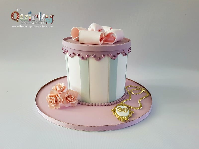 Vintage gift box cake the quirky cake society negle Image collections