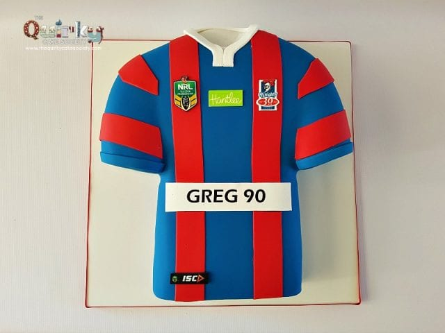 Newcastle Knights Jersey Cake