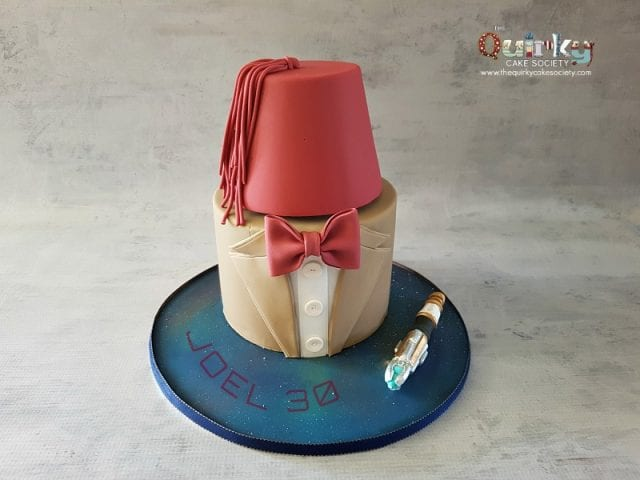 Dr Who Fez Cake