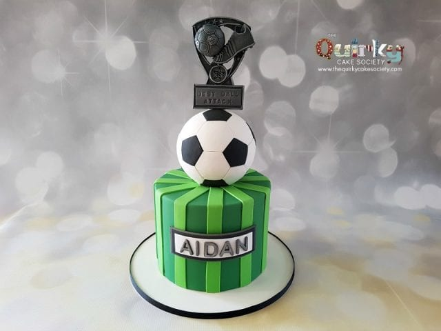 Soccer Ball and Trophy Cake
