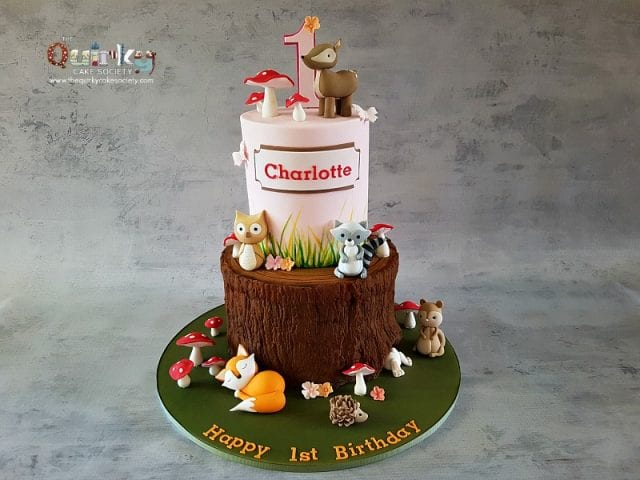 Woodlands Cake with Furry Friends