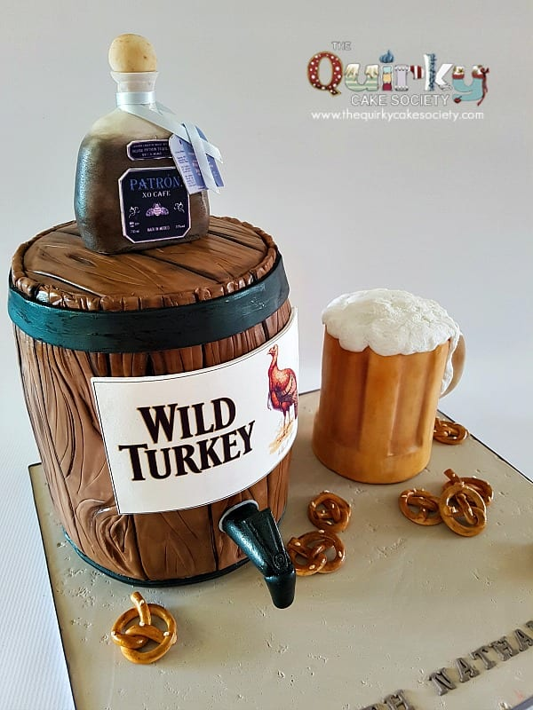 Wild Turkey Barrel Cake The Quirky Cake Society