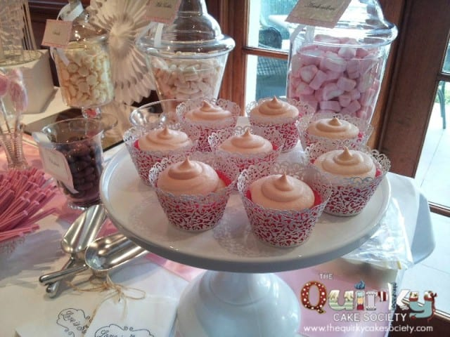 Pink and Apricot Wedding Cupcakes