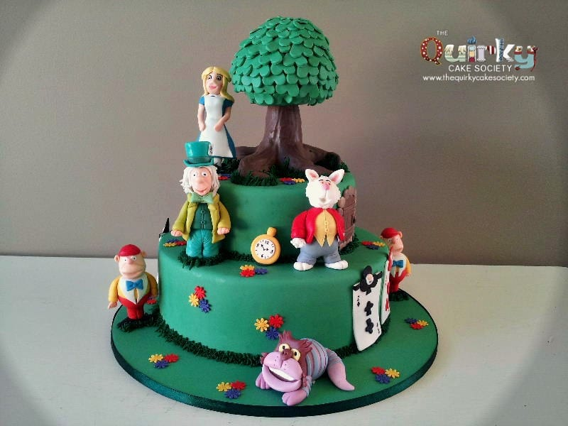 wedding cake toppers alice in wonderland in cake the cake society 26376