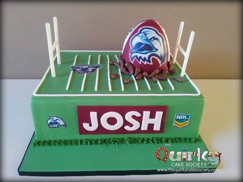 Manly Sea Eagles Football Cake The Quirky Cake Society