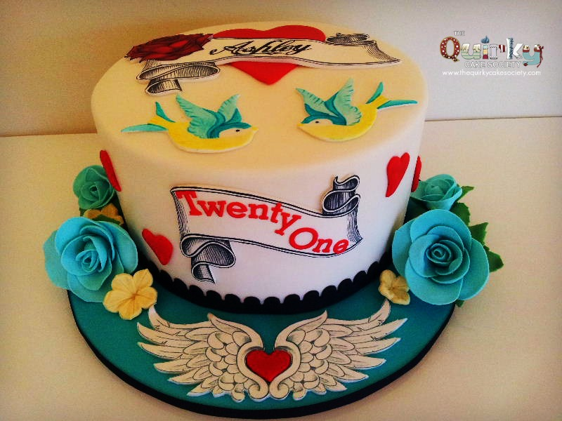 Tattoo Birthday Cake Ideas