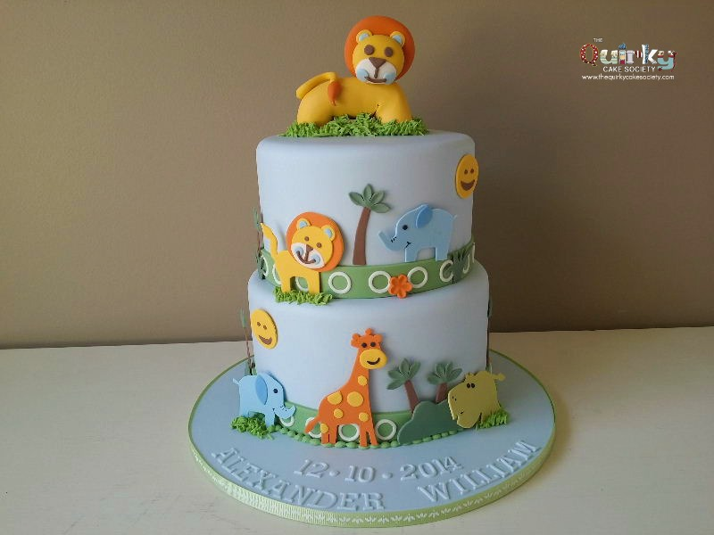Baby Shower Cake Ideas Zoo Animals