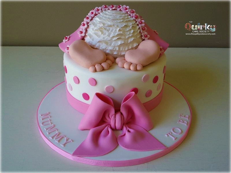 Baby Girl Bottom Cake The Quirky Cake Society