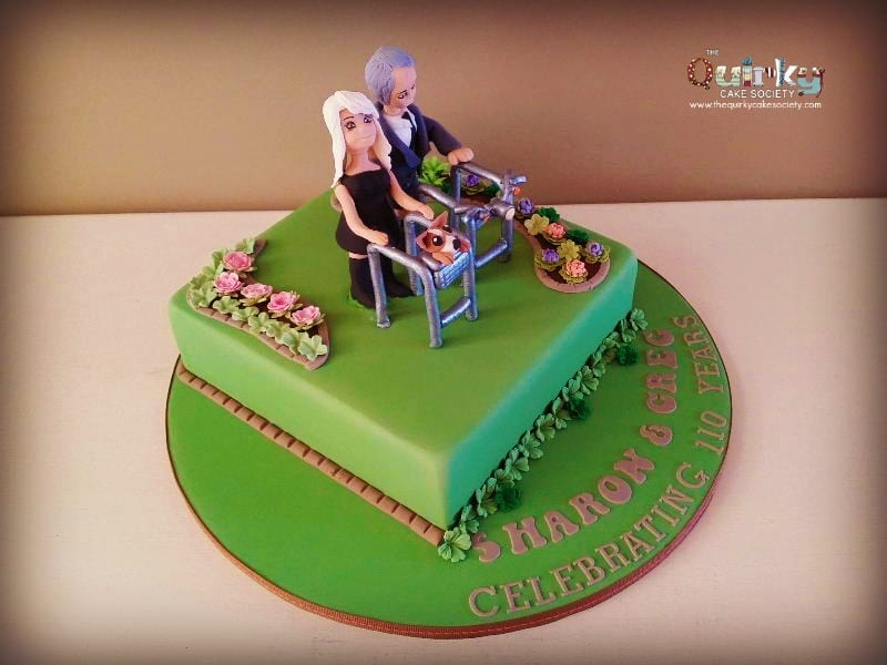 Zimmer Frame Cake - The Quirky Cake Society