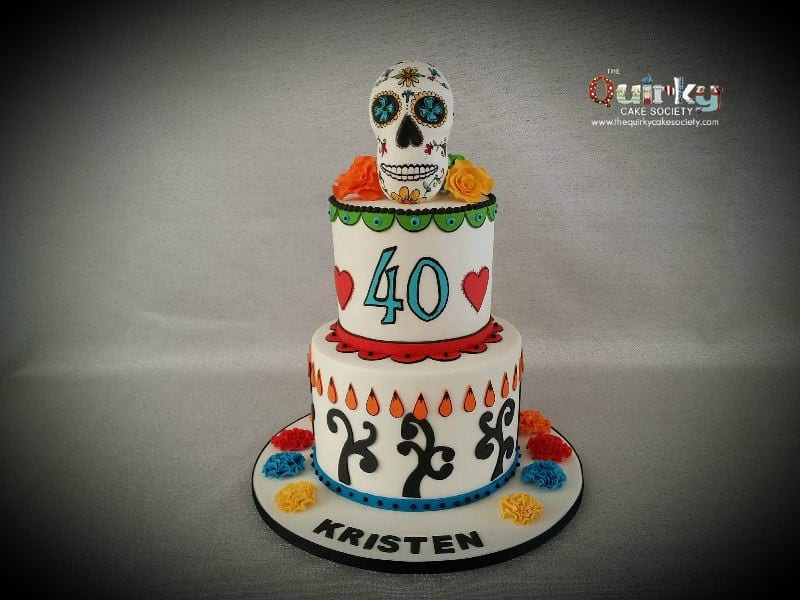 Day Of The Dead Sugar Skull Cake The Quirky Cake Society