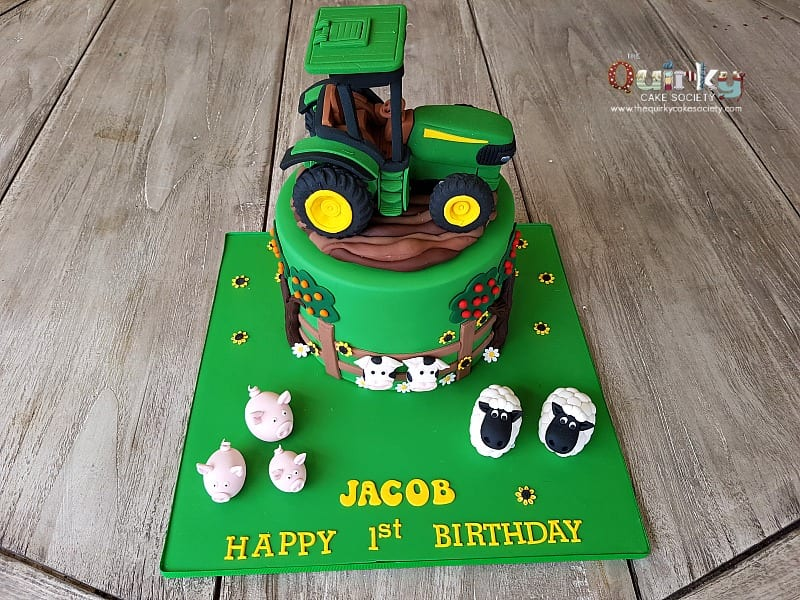 John Deere Tractor Cake The Quirky Cake Society