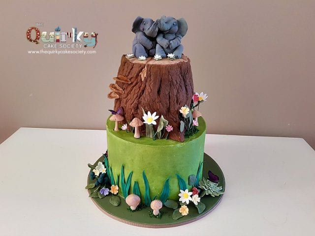 Enchanted Forest Elephant Cake
