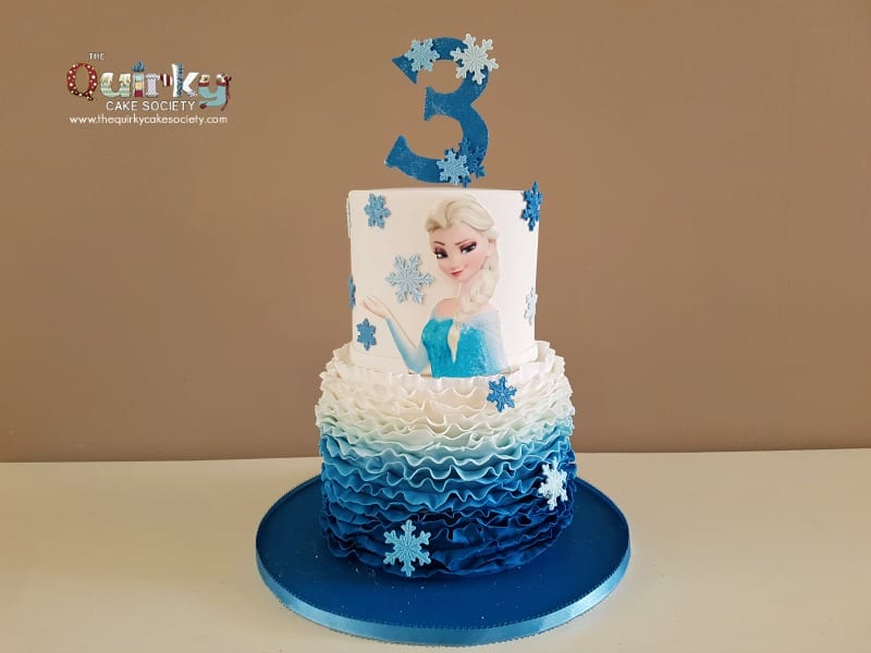 Frozen Elsa Cake The Quirky Cake Society