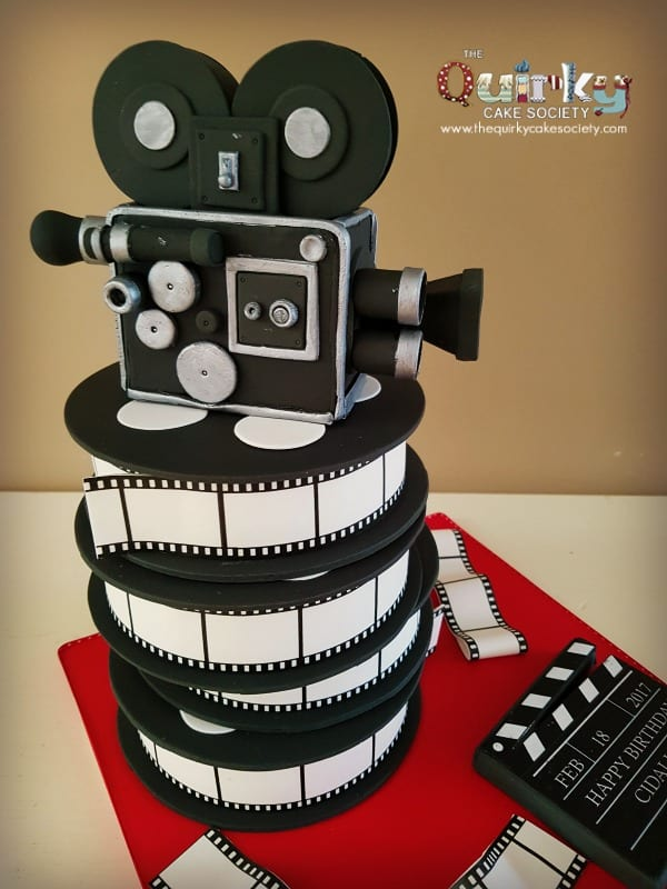 Vintage Movie Camera Cake The Quirky Cake Society
