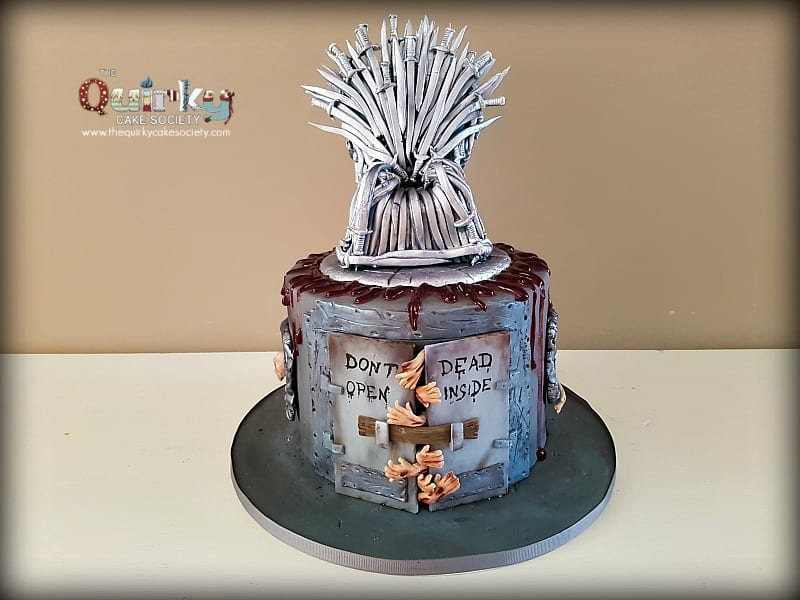 Walking Dead And Game Of Thrones Cake The Quirky Cake