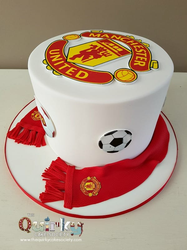 Manchester United Soccer Cake The Quirky Cake Society