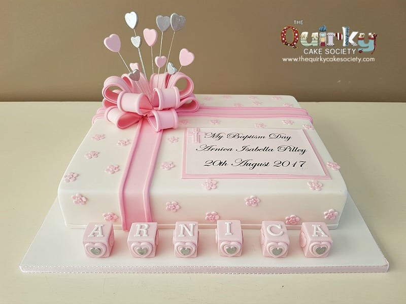 Baptism gift box cake the quirky cake society negle Image collections